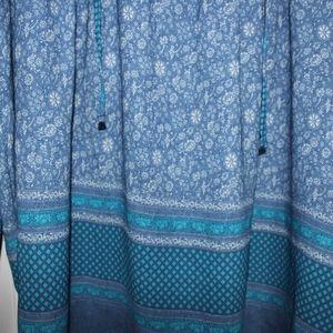 GAP Tops - Blue Pattern Blouse